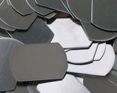 """Nickel Silver Plain Dog Tags - 1"""" x 1 1/2"""" - Qty 3, Metal Stamping Blanks, army tags, military tags, Bopper, hand stamping blanks"""