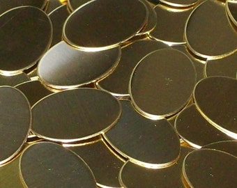 Brass Ovals - 18 gauge, stamping blanks, metal blanks, oval blanks, hand stamping blanks, metal working blanks, brass oval blanks, Bopper