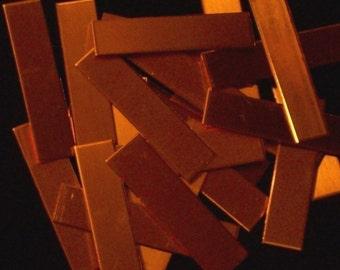 Copper Tags - 20 Gauge, Stamping Blanks, Metal Blanks, Stamping Bar, Stamping Tag, Copper Bar Stamping Blank, Stamping Strip, Stamping Sheet