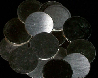 Sterling Silver Discs - 26 Gauge, stamping blanks, metal blanks, stamping supply, disks, metal stamping rounds, Bopper, stamping supplies
