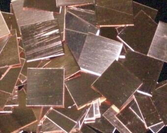 Copper Squares - 22 Gauge,  stamping blanks, metal blanks, copper sheet stock, copper metal works, hand stamping blanks, Bopper