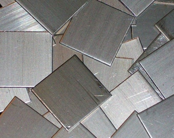 Nickel Silver Squares - 16 Gauge, stamping blanks, metal stamping blanks, square blanks, Bopper, German Silver, stamping sheet, stamp sheet