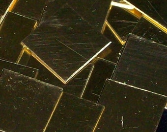 Brass Squares - 24 gauge, stamping blanks, metal stamping blanks, brass squares, brass blanks, Bopper