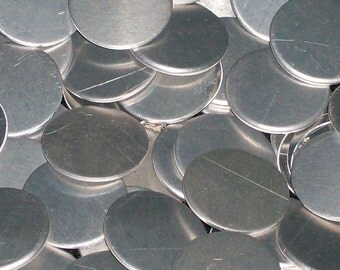 Aluminum Discs - 18 Gauge, stamping blanks, metal blanks, hypo-allergenic, food safe, hand stamping blanks, round blanks, stamping discs