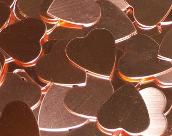 Copper Hearts, stamping blanks, metal blanks, heart blanks, stamping shapes, heart shaped blanks, Valentine blanks, Bopper