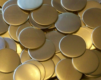 NuGold Discs - 16 Gauge, stamping blanks, rounds, stamping discs, metal blanks, metal discs, metal disks