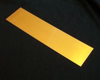 Nu-Gold Sheet - 24 gauge, stamping blanks, metal blanks, sheet stock