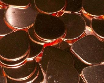 Copper Tear Drops - 18  Gauge