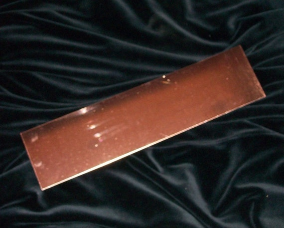 Copper Sheet 3 X 12 X 24 Gauge Cut Your Own Discs And
