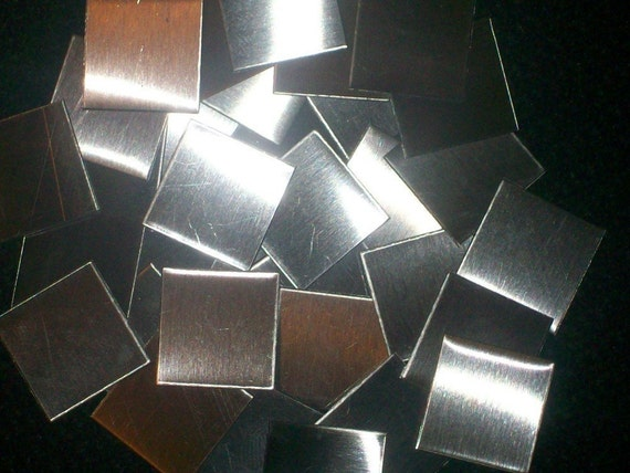 Stainless Steel 1 x 1 blanks 24 gauge - Qty 10