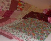30 5 Inch Quilt Squares Assorted PINK Prints