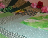 30 5 Inch Quilt Squares Assorted GREEN Prints