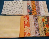 30 5 Inch Quilt Squares Assorted YELLOW Prints