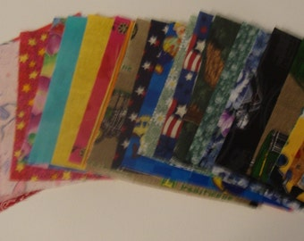 30 6 Inch Quilt Squares Assorted  Prints for CHARM QUILTS