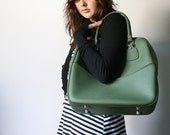 VINTAGE Olive Forest Green TOTE Bag LUGGAGE Pick Your Poison