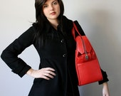 VINTAGE Cherry Red TOTE Travel Bag LUGGAGE Pick Your Poison