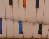 piano, trees, legs
