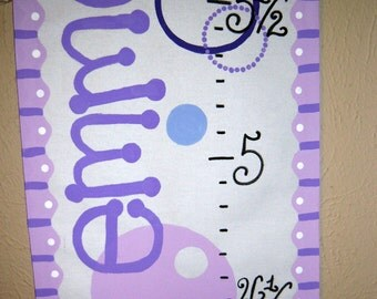Purple Funky Circles Personalized Growth Chart