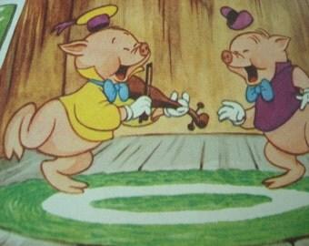 1978 Walt Disneys Three Little Pigs Book and Record 303