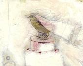 Bird Painting Collage Wedding - 476
