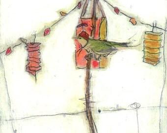 Bird Painting Collage Lanterns - 29