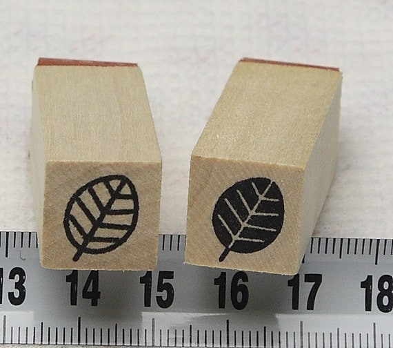 Japanese cute rubber stamp ( leaf )