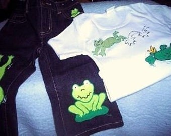 Froggy Jeans Set