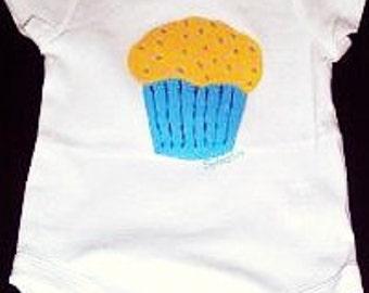 Sprinkles Cupcake Bodysuit, Cupcake Baby One Piece, Cupcake With Sprinkles Bodysuit