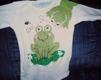 Frog Baby Bodysuit,  Baby Clothes, Baby Frogs, Toddler Shirt