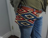 Vtg print fabric Belt/Hip Bag with belt