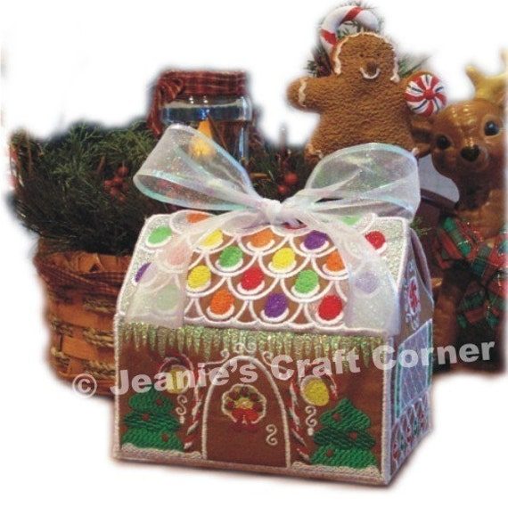 Christmas Gingerbread House Gift Box Machine by JeanieGirl on Etsy