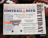 DIGITAL Football Tailgate Party Invitation and Address Label