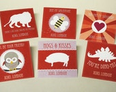 DIGITAL Kids Valentines Cards in Pink, White and Red with Cute Phrases - Perfect for Children's Classes