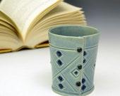 Blue Bathroom cup