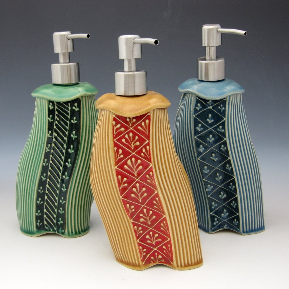 soap dispenser handmade whimsical colorful soap lotion. Black Bedroom Furniture Sets. Home Design Ideas
