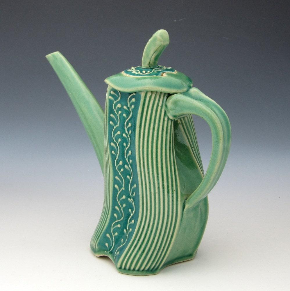 Unique Teapot Whimsical Dancing In Joy