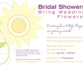 Spring Sunflower Invitations Bridal Shower - Customized for Alliigh