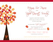 Fall Wedding Invitation set for Kimann9