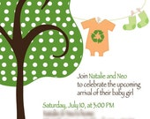 Eco Friendly Plantable Paper Invitations - Template for DIY Printing