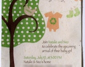 Eco Friendly Tree invitation - Template Only