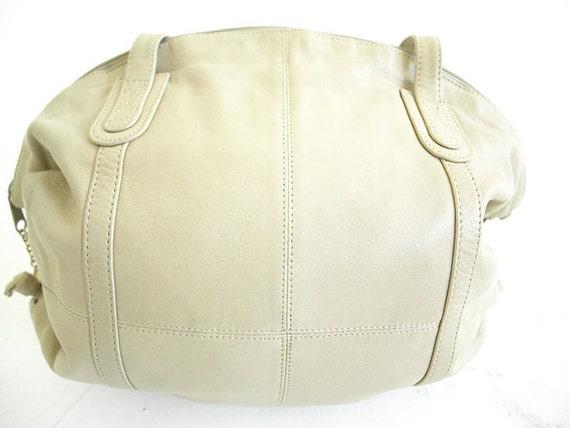 Vintage 1980's Brio Cream Leather Purse