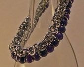 Aventurine Bracelet Chainmaille Beads And Bright Aluminum Together Are Beautiful For Any Woman