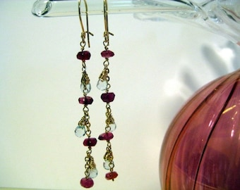 Berries and icicles earrings