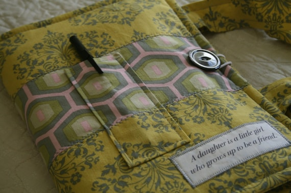 Fabric Book Covers With Handles : Custom bible cover made to fit special fabric order