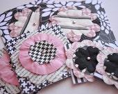 Pink Flower Card Set