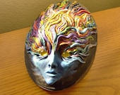 Flame Face Mask Wall Sculpture
