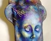 Goddess Of The Storm Mask Face Sculpture