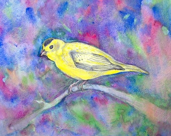 Yellow Bird Original Painting