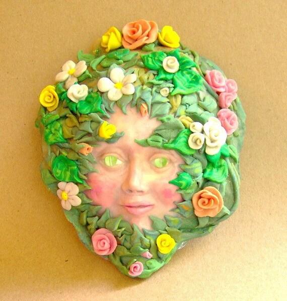 Flower Baby Sprite Face OOAK