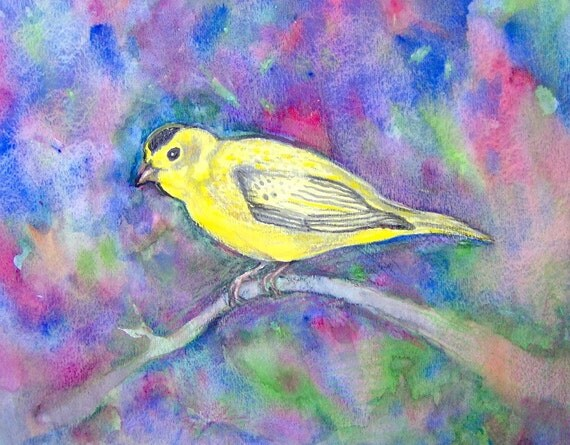 Yellow Bird Original Painting